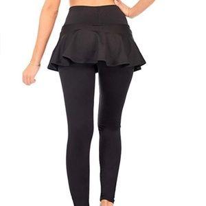 Dear Sparkle Pants - DEAR SPARKLE Black Skirted Leggings Size: 2X